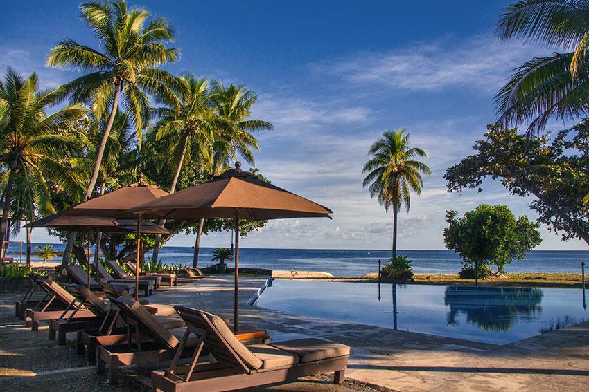 at poolside, Yasawa Island Resort, Yasawa Island, western Fiji