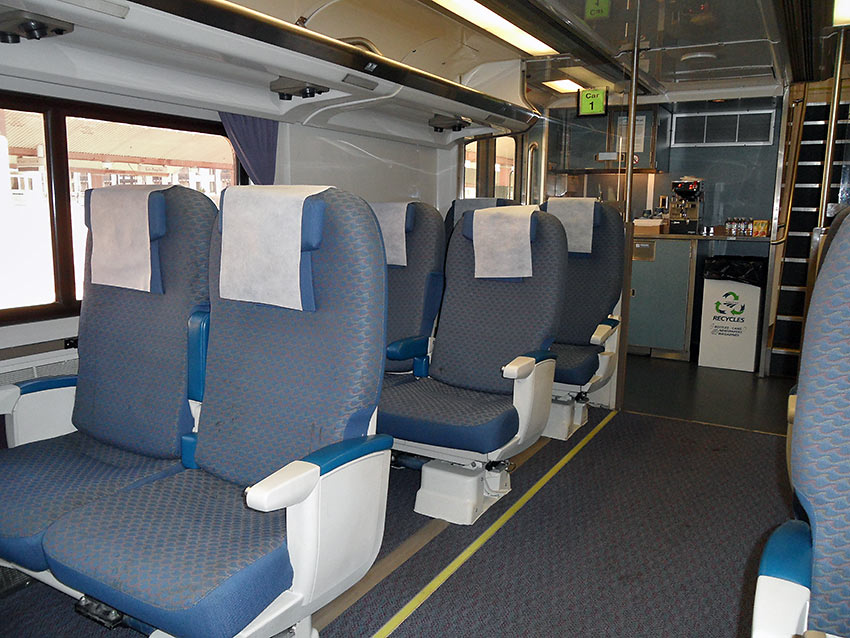 Amtrak Surfliner's business class