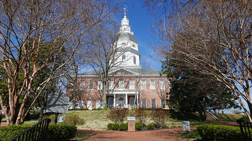 unfinished Maryland State House, Annapolis