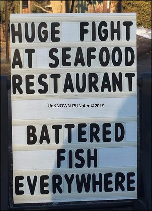 Don's Puns: Battered Fish