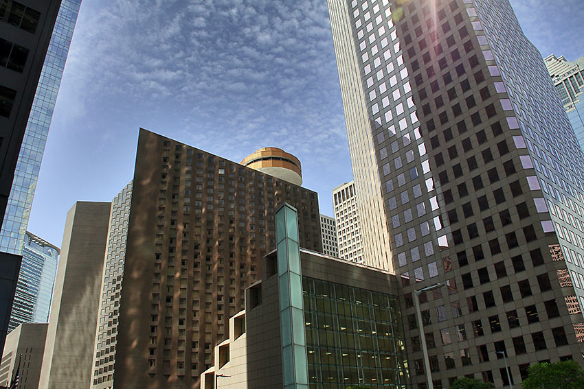 high-rise buildings in Houston
