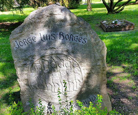 gravesite of Jorge Luis Borges in the Cemetery of Kings, Geneva