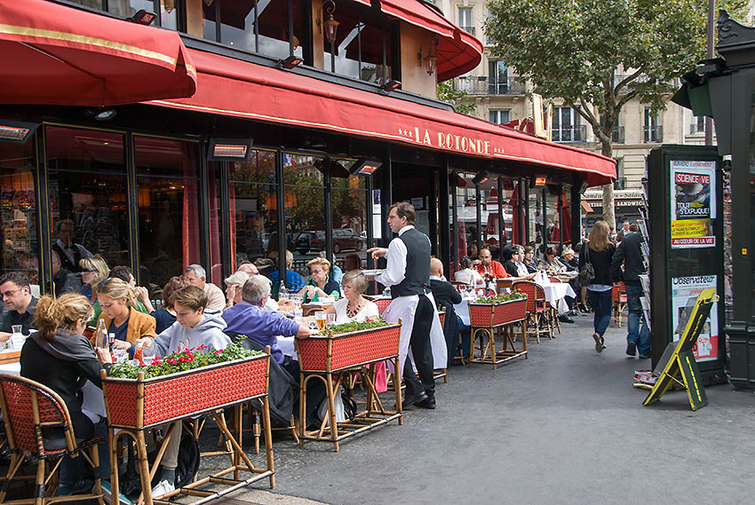 the La Rotonde, one of the legendary cafes along Boulevard du Montparnasse