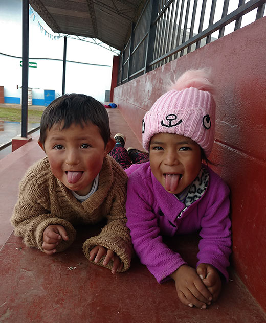 young Peruvian children