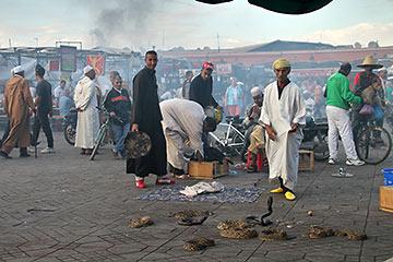 a street scene in Morocco