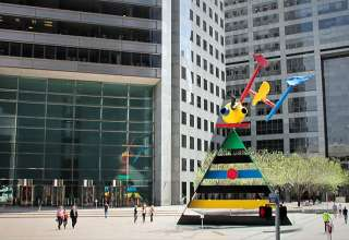 Joan Miro's Personage and Birds, Houston