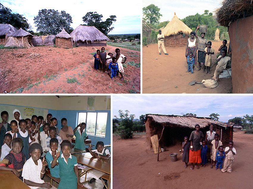 Simonga Village scenes