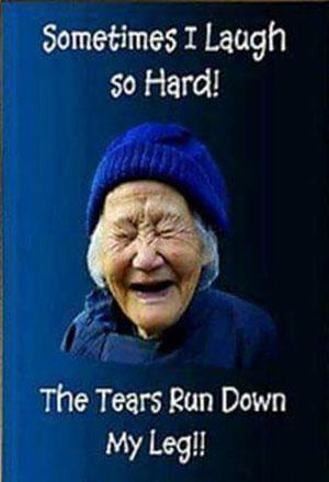 Parting Shot: Tears Down My Leg