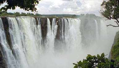 Victoria Falls viewed from the Zambia side
