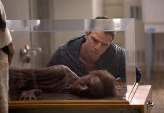 William looks at a 35,000 year-old preserved Neanderthal