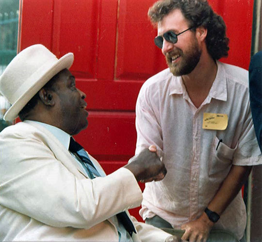 the writer with Willie Dixon