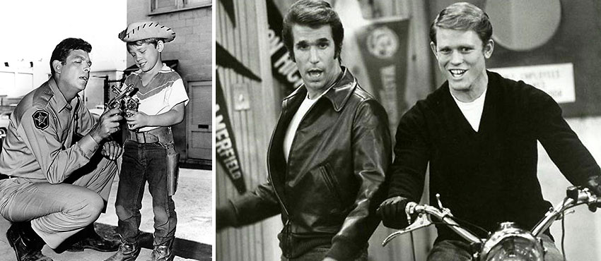 Ron Howard in 'The Andy Griffith Show' and 'Happy Days''