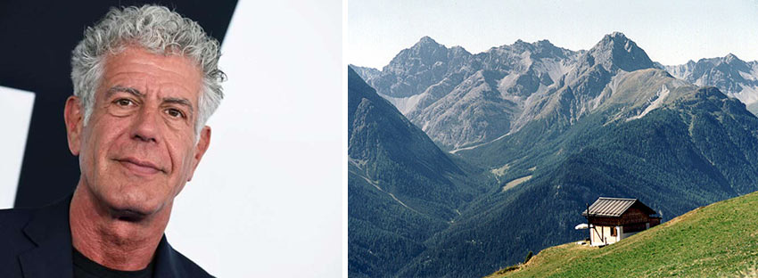 Anthony Bourdain and Switzerland scene