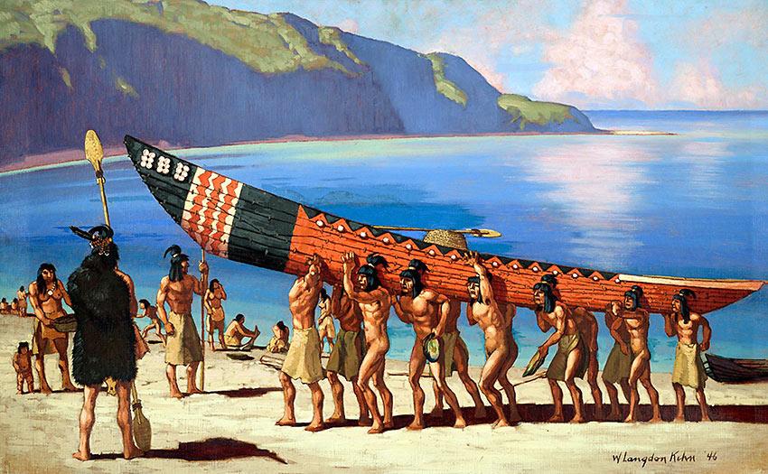 painting of Chumash Indians