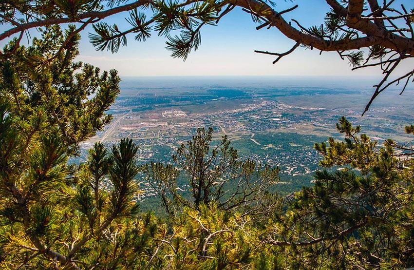 overlooking Colorado Springs
