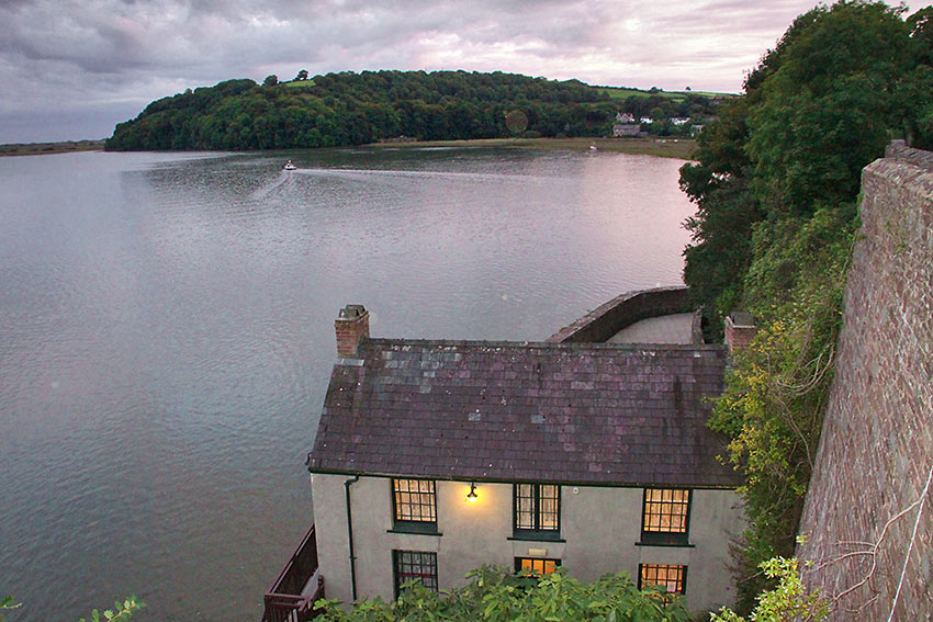 converted boat house where Dylan Thomas lived the last four years of his life