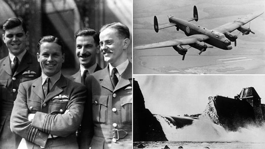 Guy Gibson and the Dambusters crew, June 1943