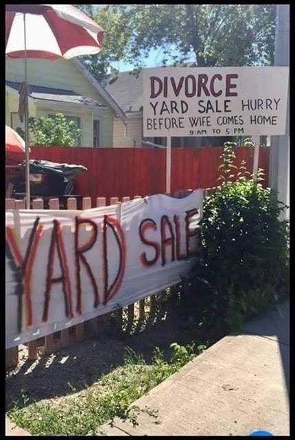 Parting Shot: Divorce Yard Sale