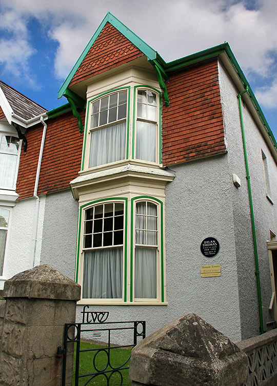 Dylan Thomas' house of birth