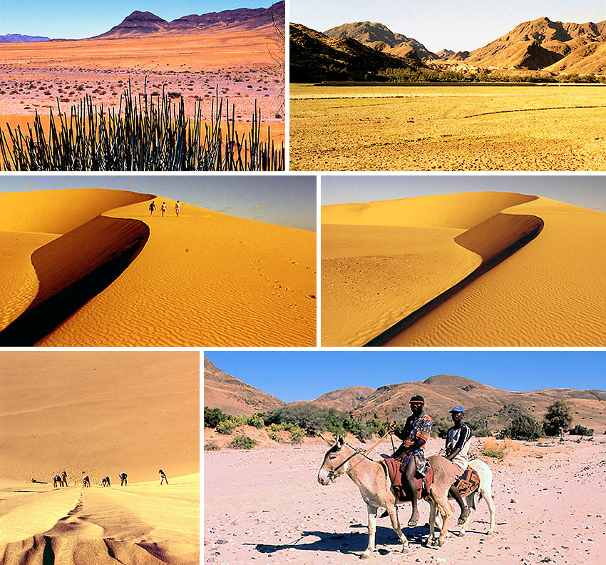 Namibia's flat plains and sand dunes