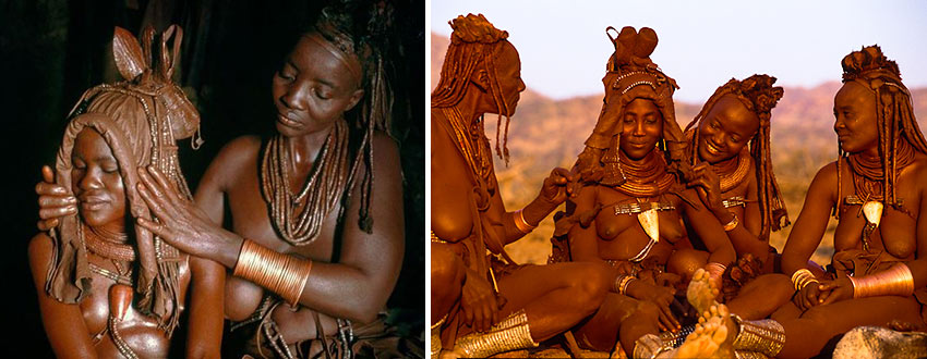 a Himba bride and a Himba marriage ceremony