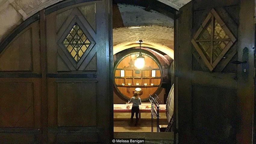 wine storage at the Cave Historique des Hospices de Strasbourg