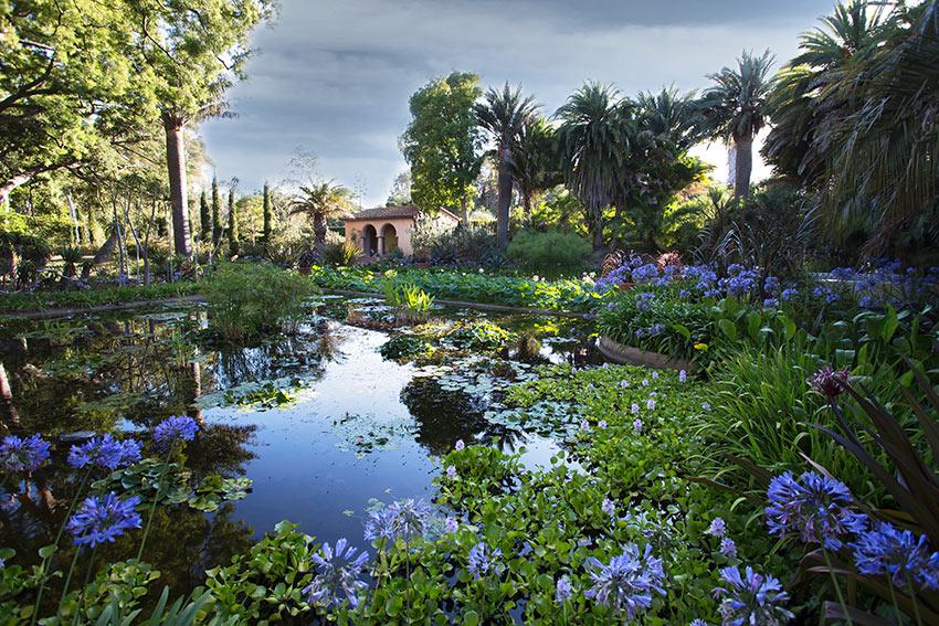 the garden at Lotusland, Santa Barbara, CA
