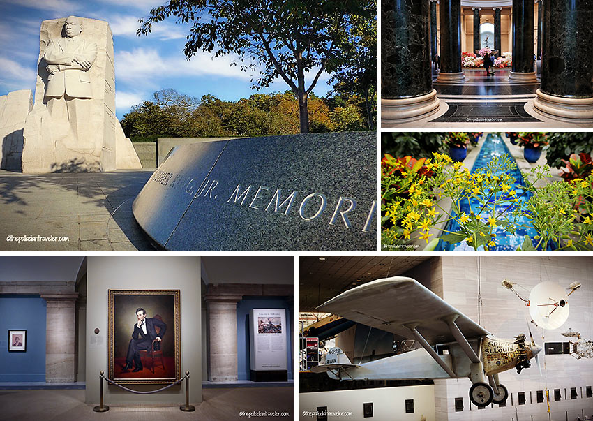 memorials and museums at the Mall