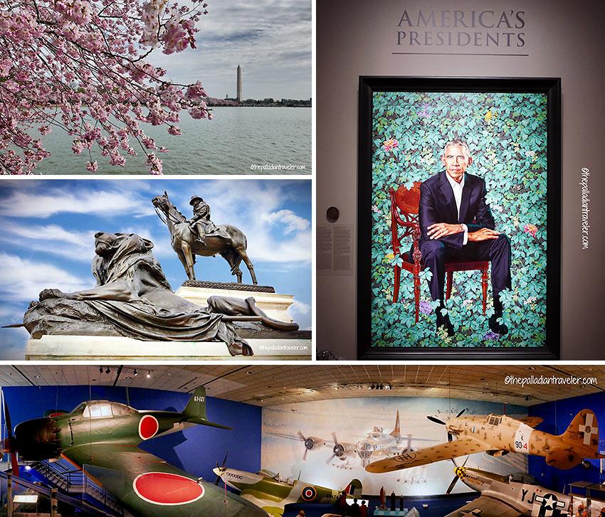 various scenes in Washington D.C.