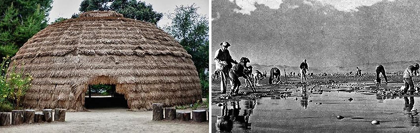 recreated Chumash dwelling and a Pismo clam dig
