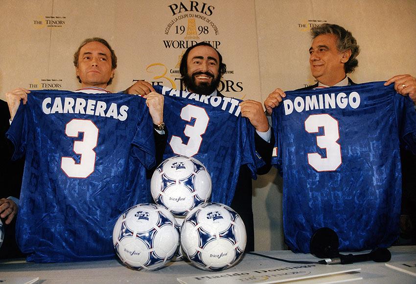 the Three Tenors: José Carreras, Luciano Pavarotti, and Plácido Domingo