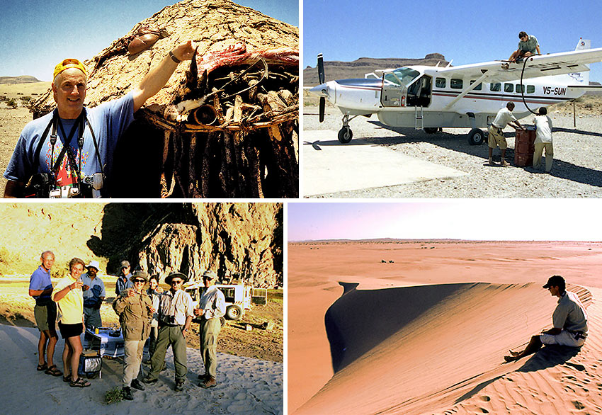 author and companions traveling up the Skeleton Coast, Namibia