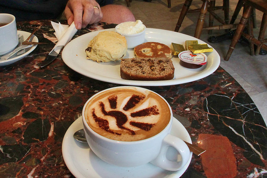 Cream Tea: Bara Brith (speckled bread), Welsh Tea Cakes, scones and clotted cream