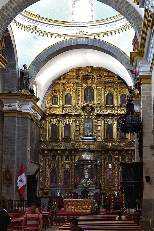 inside the main cathedral of Ayacucho