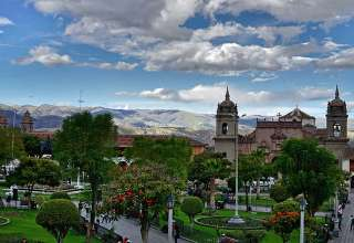 the Central Plaza of Ayacucho, Peru