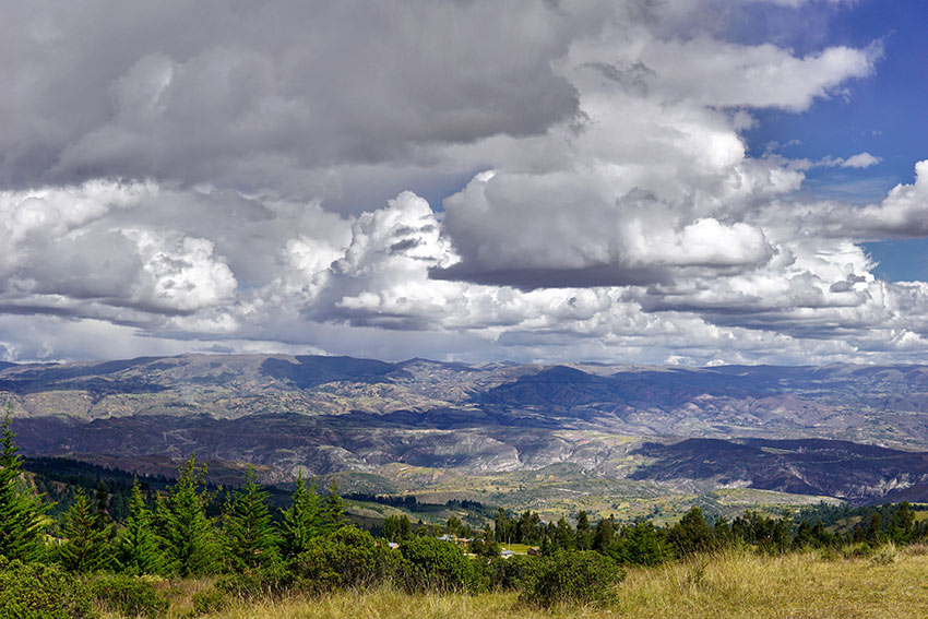 view of Ayacucho valley and city from the Pampa de Ayacuch