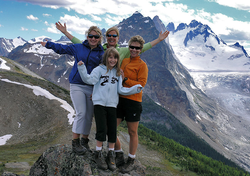 family at the Bugaboos