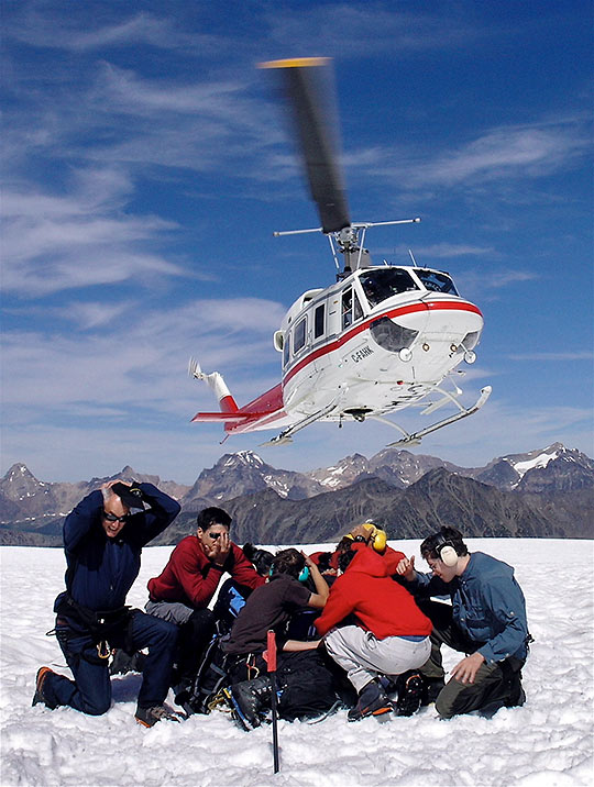 helicopter hiking at the Bugaboos