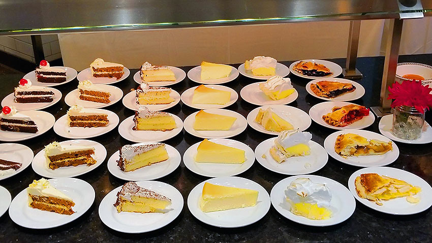 dessert entrees at the Choices Buffet