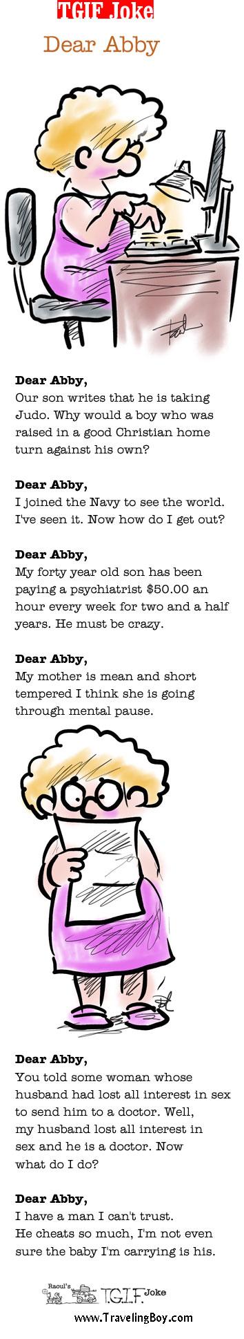TGIF Joke of the Week: Dear Abby