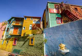 houses at the eclectic La Boca Italian immigrant barrio