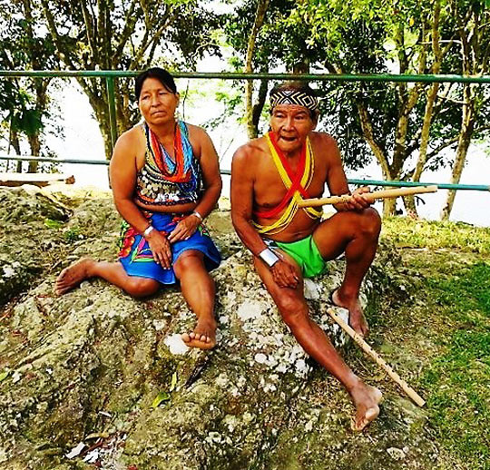 Embera tribe couple