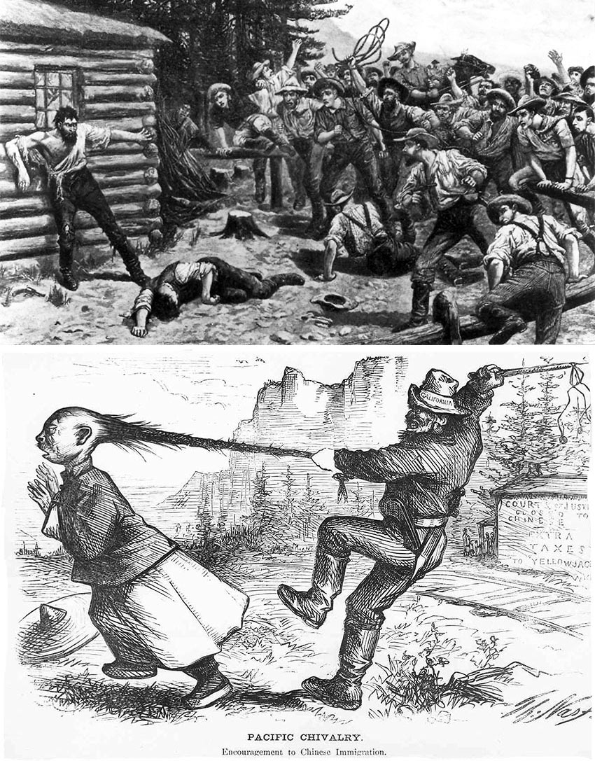 ugly displays of brutality during the 1849 Gold Rush