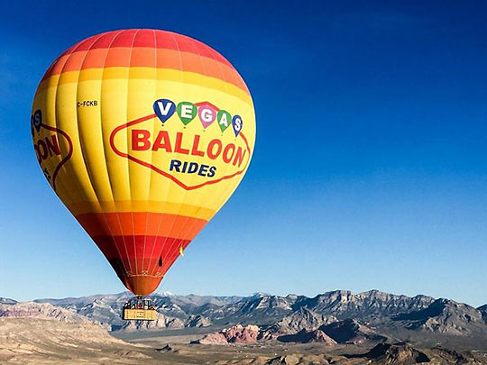 hot air balloon, Las Vegas