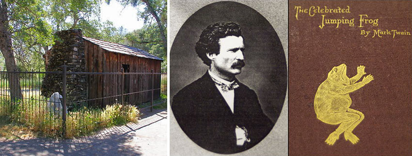 Mark Twain, 'The Celebrated Jumping Frog' story and Mark Twain's cabin