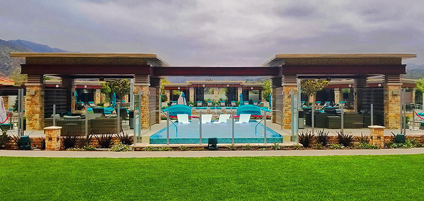 pool area at the Pala Casino Spa & Resort