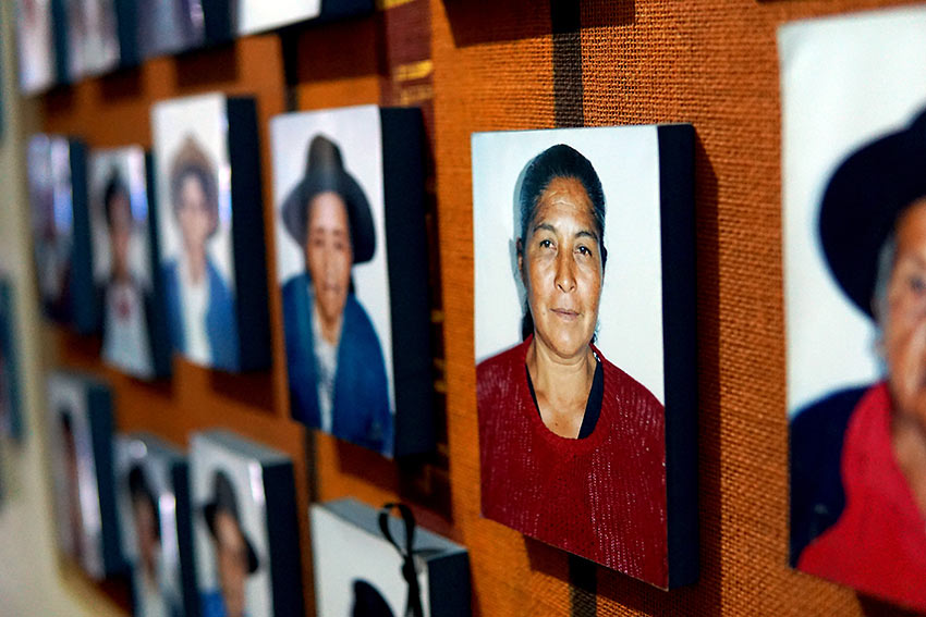 photos of people at the Museo de la Memoria whose family members were taken or disappeared