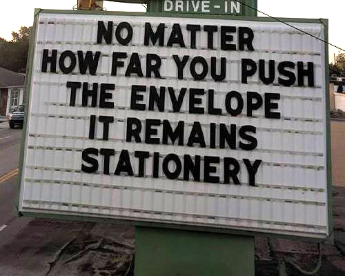 Don's Puns: Push the Envelope 1