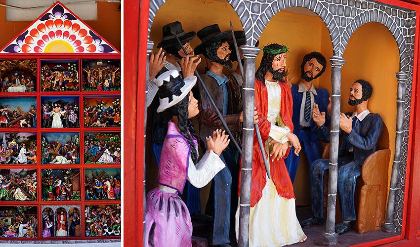retablos of religious figures
