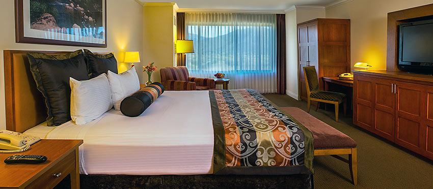 a room at the Pala Casino Spa & Resort